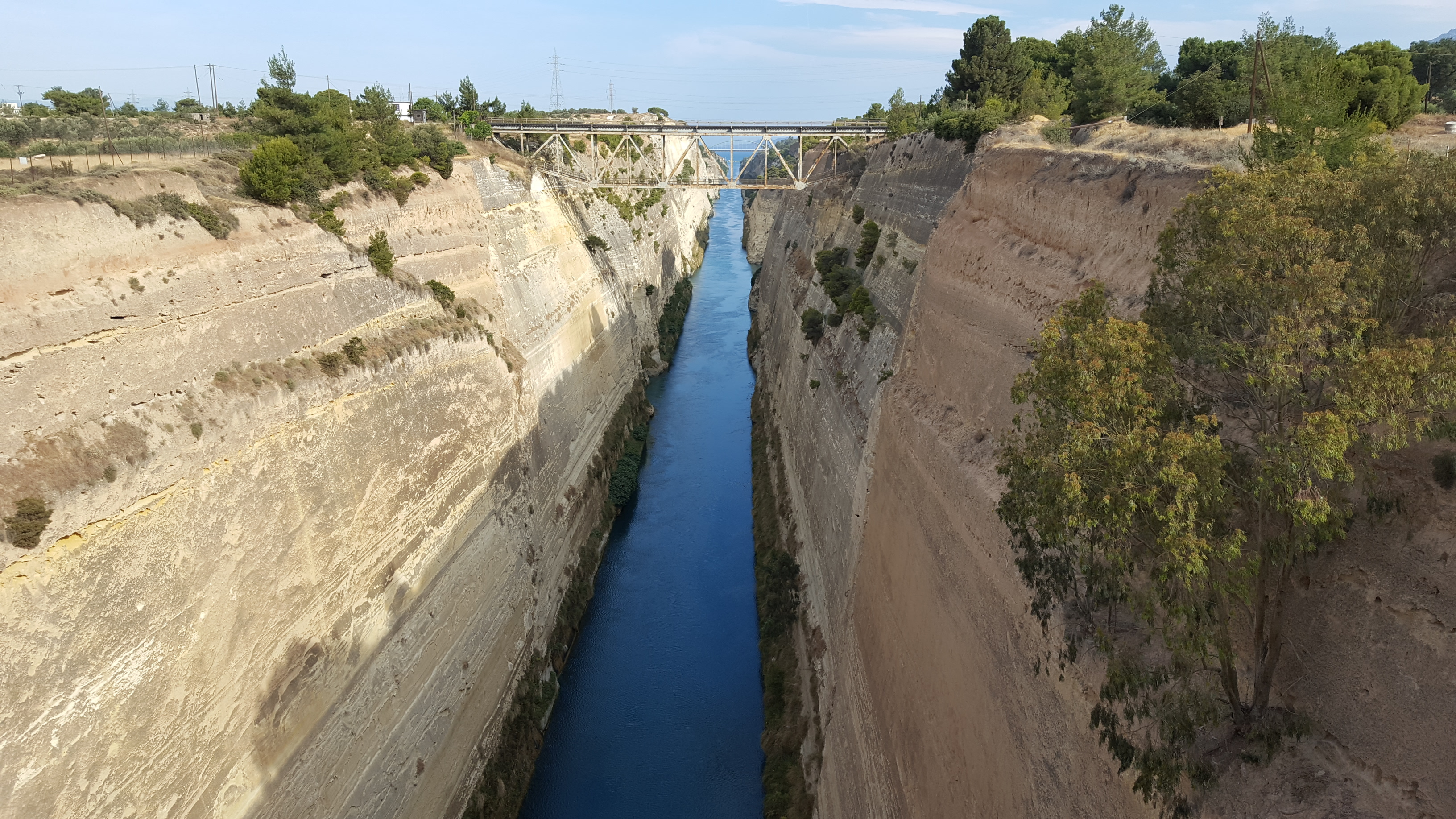 Canal on the Isthmus of Corinth Greece bunkerwritescom